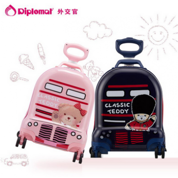 外交官Diplomat ABS+PC材质 精典泰迪时尚可爱儿童休闲拉杆箱