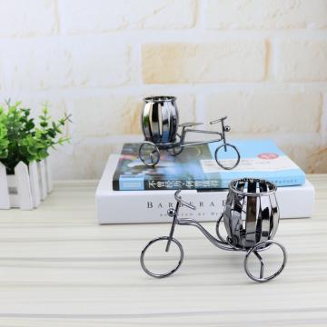 新款铁艺自行车笔筒 创意学生桌面装饰文具奖品礼品奖励小礼物