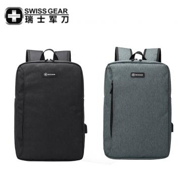 瑞士军刀商务休闲双肩背包 商务电脑包 14.4寸中包