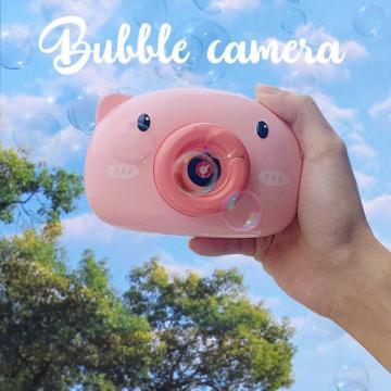 泡泡机网红抖音同款小猪泡泡相机少女心吹泡泡全自动不漏水补充液