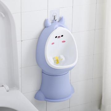 尿尿神器卡通小男孩站立式儿童尿壶挂墙式客调节高矮儿童小便器