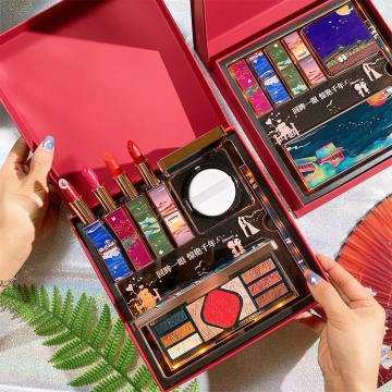 中国风微雕彩妆套装礼盒口红化妆品全套送女友闺蜜圣诞生日礼物
