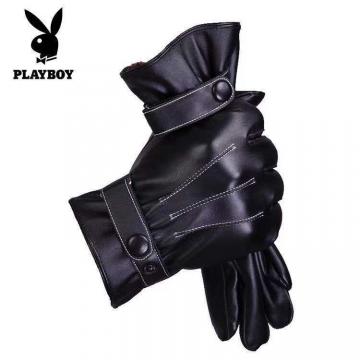 花花公子手套男女秋冬季加绒加厚保暖触屏防水防风骑车户外手套