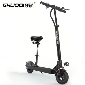 J-硕琪 全新升级版专属PU人体工程座椅 电动滑板车 可折叠 高弹性弹簧减震电动车 D-202B