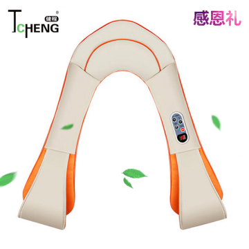 J- 健程智能升级款捶打按摩披肩 家用颈部肩部腰部按摩披肩 捶打热敷肩颈按摩器 P30