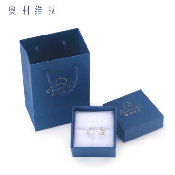 J-全国包邮奥利维拉百年品牌天然淡水珍珠耳钉H6  精美礼盒包装