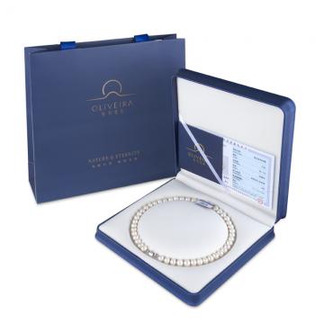 J-奥利维拉百年品牌 天然淡水珍珠项链F8 妈妈的礼物 精美礼盒包装
