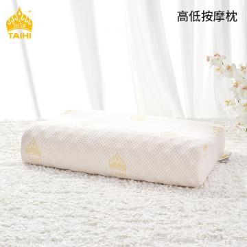 J-泰嗨/TAIHI 泰国原装进口乳胶枕头天然乳胶枕芯护肩颈枕礼盒装带枕套