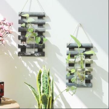 美式乡村简约植物水培壁挂壁饰墙面创意家居墙上装饰品背景墙