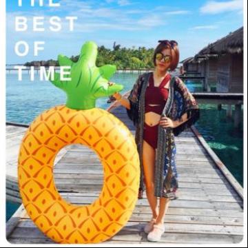 大号菠萝游泳圈 成人充气游泳圈