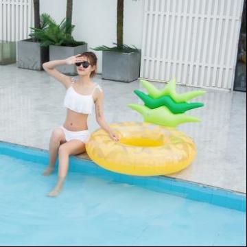 ins热卖 大号靠背菠萝游泳圈凤梨成人泳圈加厚水圈